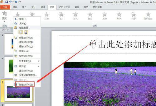 ppt2010中隐藏指定内容的设置方法