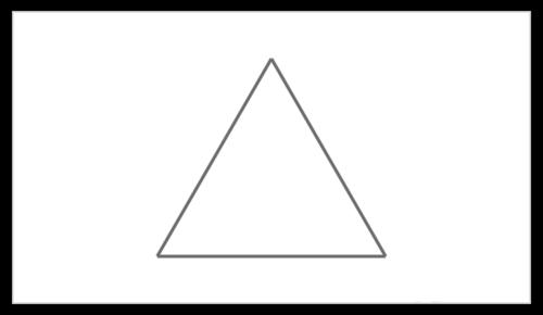 PPT绘制等边三角形教程