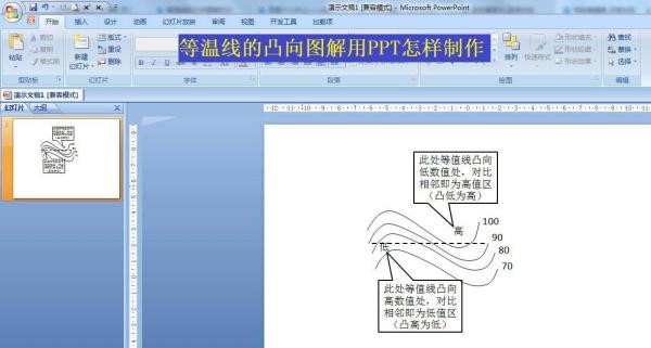 如何用ppt畫等溫線的凸向圖解課件