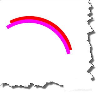 圆弧形彩虹PPT制作教程